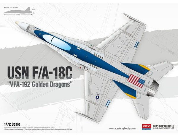 "Academy 1/72 USN F/A-18C ""VFA-192 Golden Dragons"""