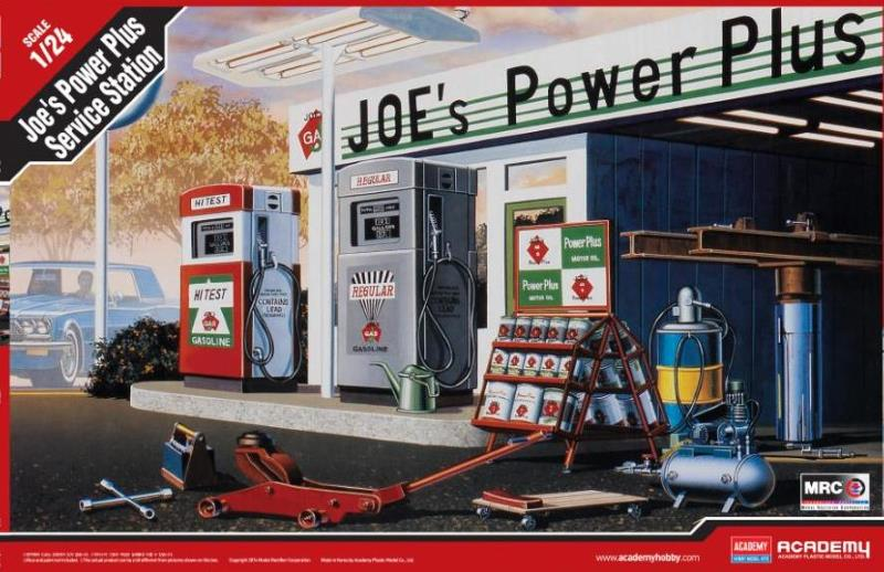 Academy 1/24 Joe's Power Plus Gas Service Station