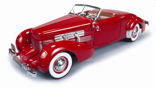AMM 1/18 1937 Cord 812 convertible red
