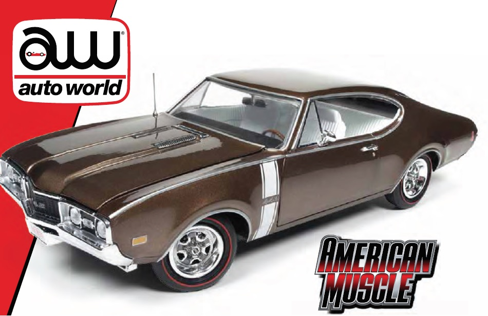 AMM 1/18 1968 Oldsmobile Cutlass 442 Hardtop Cinnamon Bronze