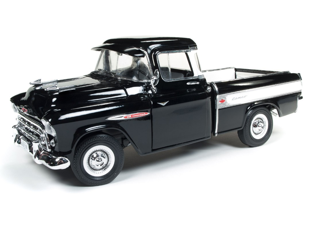 American Muscle 1/18 1957 Chevy Cameo Pickup Truck - Onyx Black