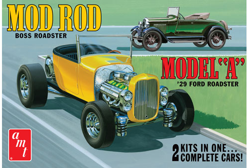 AMT 1929 Ford Model A Roadster Mod Rod 1/25 Model Kit (Level 2)
