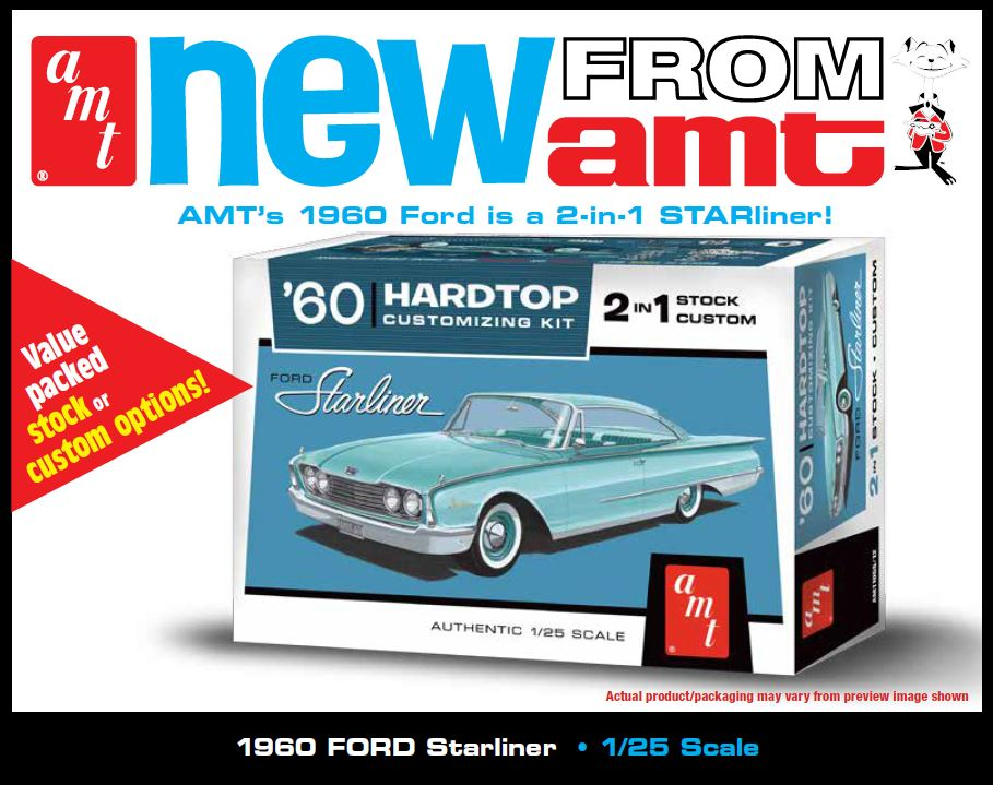 AMT 1960 Ford Starliner 2 in 1 1/25 Model Kit (Level 2)