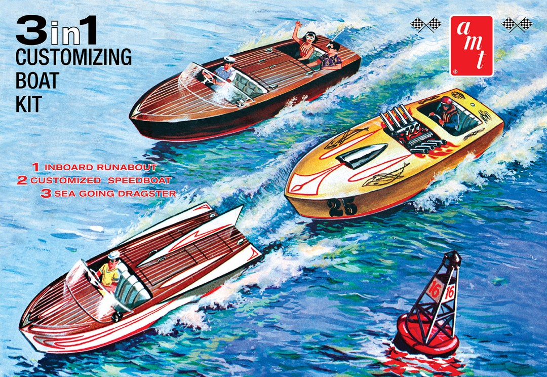 AMT Customizing Boat (3-in-1) 1/25 Model Kit