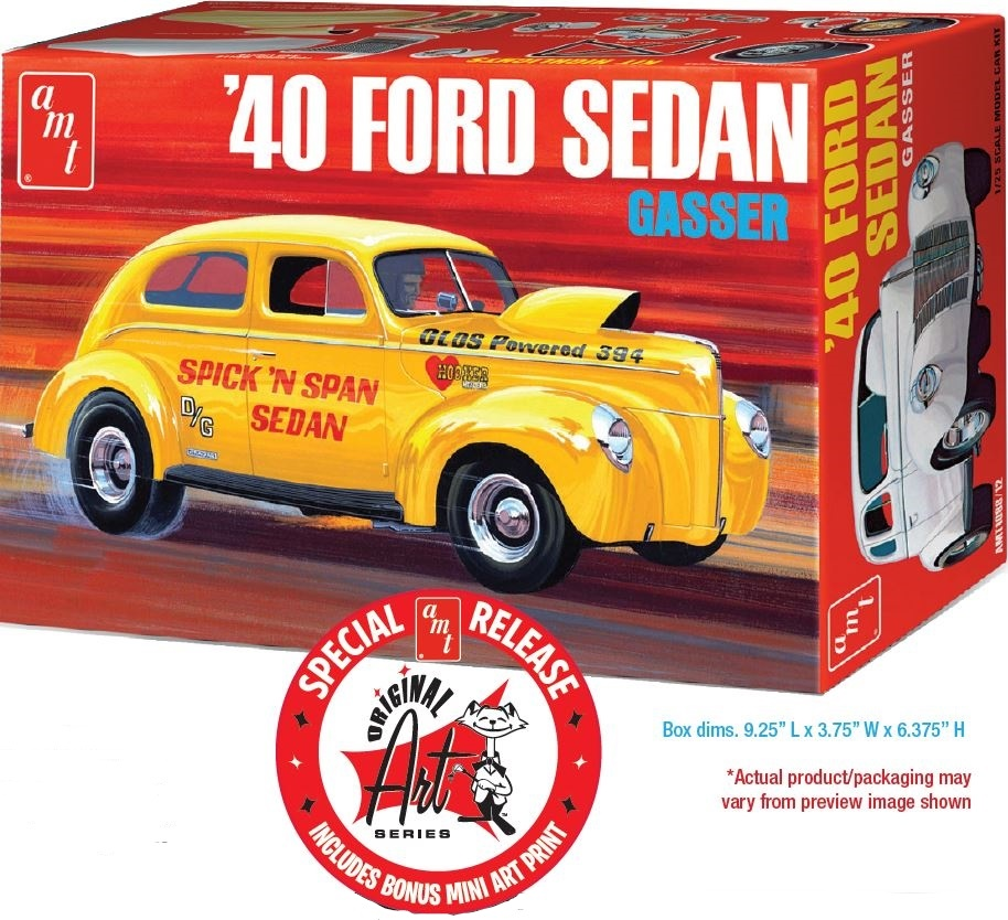 AMT 1940 Ford Sedan (OAS) 1/25 Model Kit Molded in White Level 2