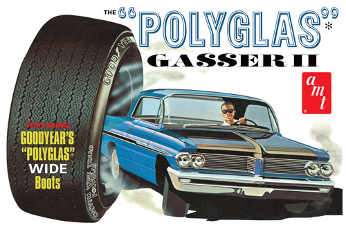 AMT 1962 Pontiac Catalina Polyglas Gasser II 1/25 Model Kit