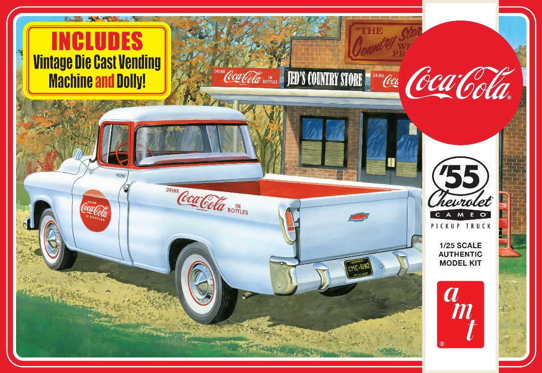 AMT 1955 Chevy Cameo Pickup (Coca-Cola) 1/25 Model Kit