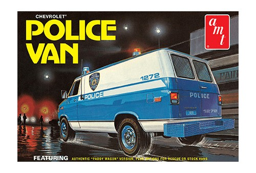 AMT Chevy Police Van (NYPD) 1/25 Model Kit (Level 2)