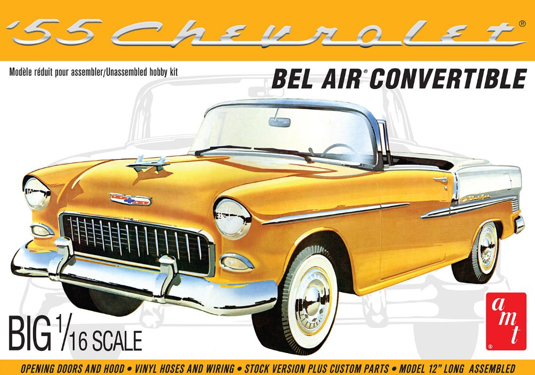 AMT 1955 Chevy Bel Air Convertible 1/16 (Level 3)
