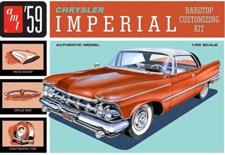 AMT 1959 Chrysler Imperial 1/25 Model Kit (Level 2)