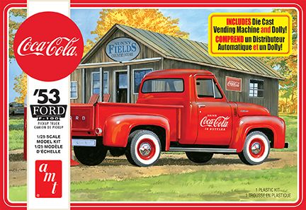 AMT 1953 Ford Pickup (Coca-Cola) 1/25 Model Kit (Level 3)