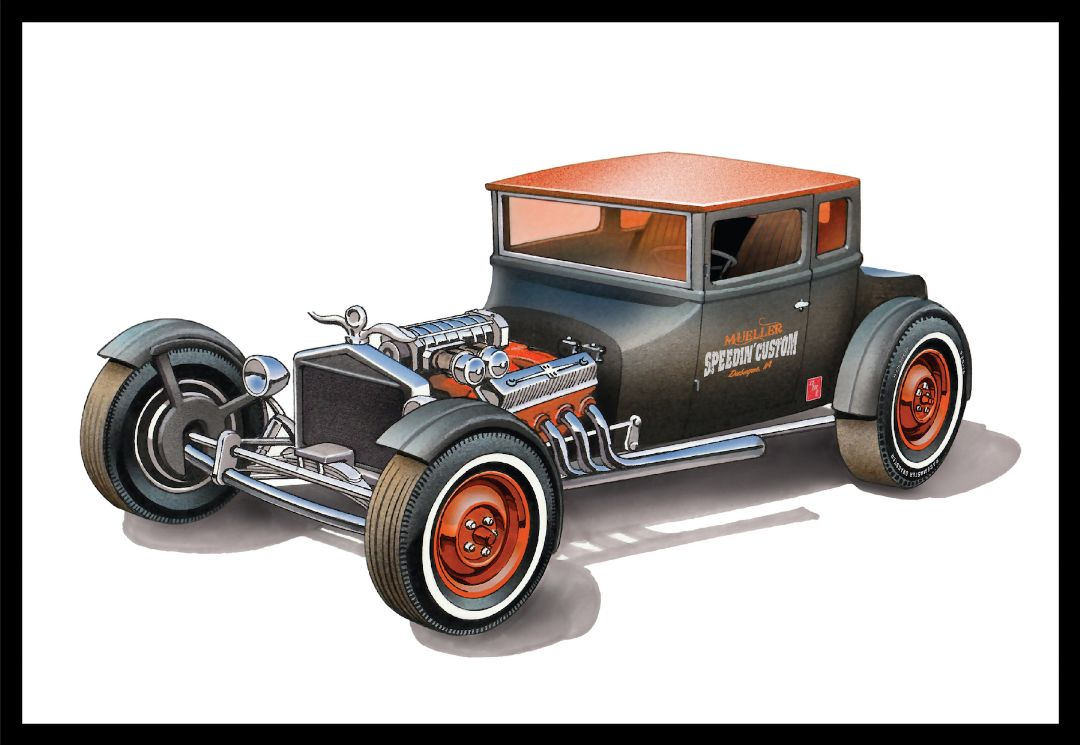 "AMT 1925 Ford T ""Chopped"" 1/25 Model Kit (Level 2)"