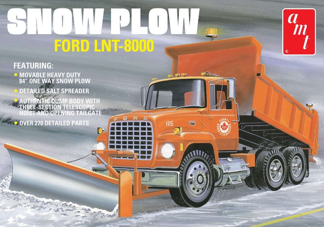 AMT Ford LNT-8000 Snow Plow 1/25 Model Kit (Level 3)