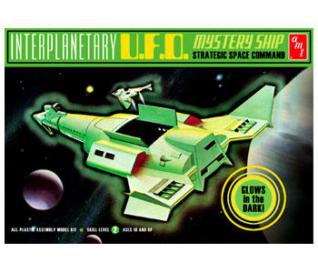 AMT Interplanetary UFO Mystery Ship Glow in the Dark (Level 2)
