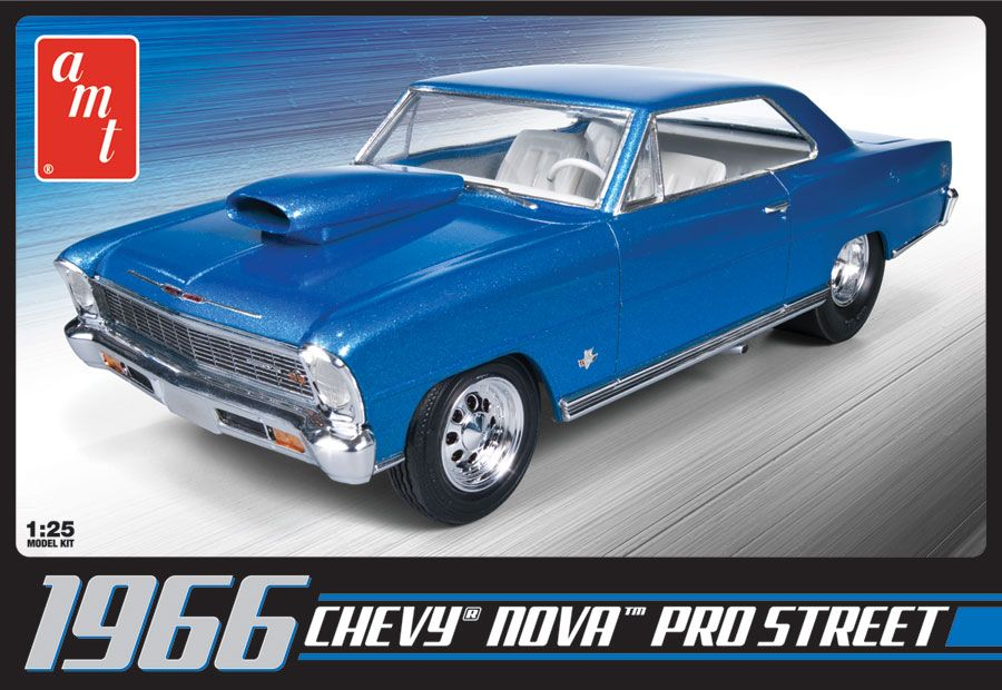 AMT 1966 Chevy Nova Pro Street 1/25 Model Kit (Level 2)