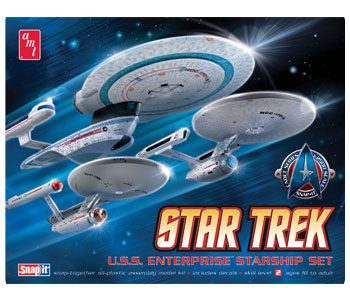 AMT Cadet Series Enterprise Starship 1/2500 Model Kit (Level 2)