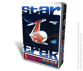 AMT Star Trek Romulan Bird-Of-Prey in Collectors Tin Kit Level 2