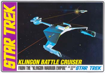 AMT Star Trek Klingon Battle Cruiser 1/650 Model Kit (Level 2)