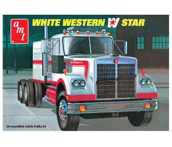 AMT White Western Star 1/25 Model Kit (Level 3)