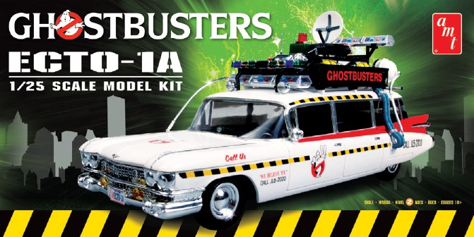 AMT Ghostbusters Ecto-1A 1/25 Model Kit (Level 2)