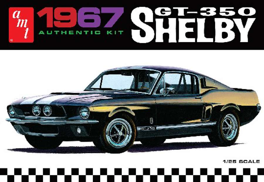 AMT 1967 Shelby GT-350 Authentic Kit 1/25 Model Kit (Level 2)