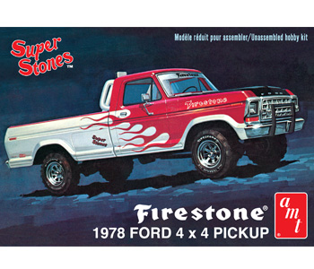 AMT 1978 Firestone Ford 4 X 4 Pickup 1/25 Model Kit (Level 2)