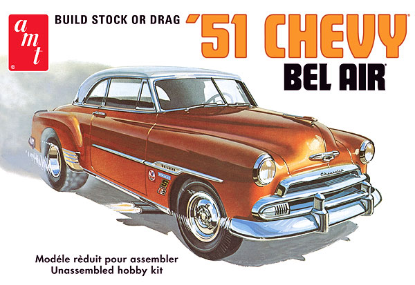 AMT 1951 Chevy Bel-Air Stock or Drag 1/25 Model Kit (Level 2)