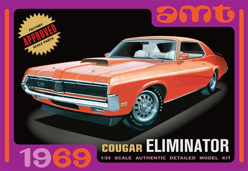 AMT 1969 Cougar Eliminator 1/25 Model Kit (Level 2)