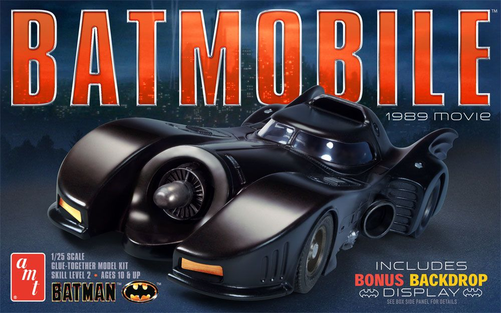 AMT Batmobile from the 1989 Batman Movie 1/25 Model Kit Level 2