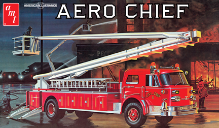 AMT Aero Chief Aerial Platform Fire Truck 1/25 Model Kit Level 2