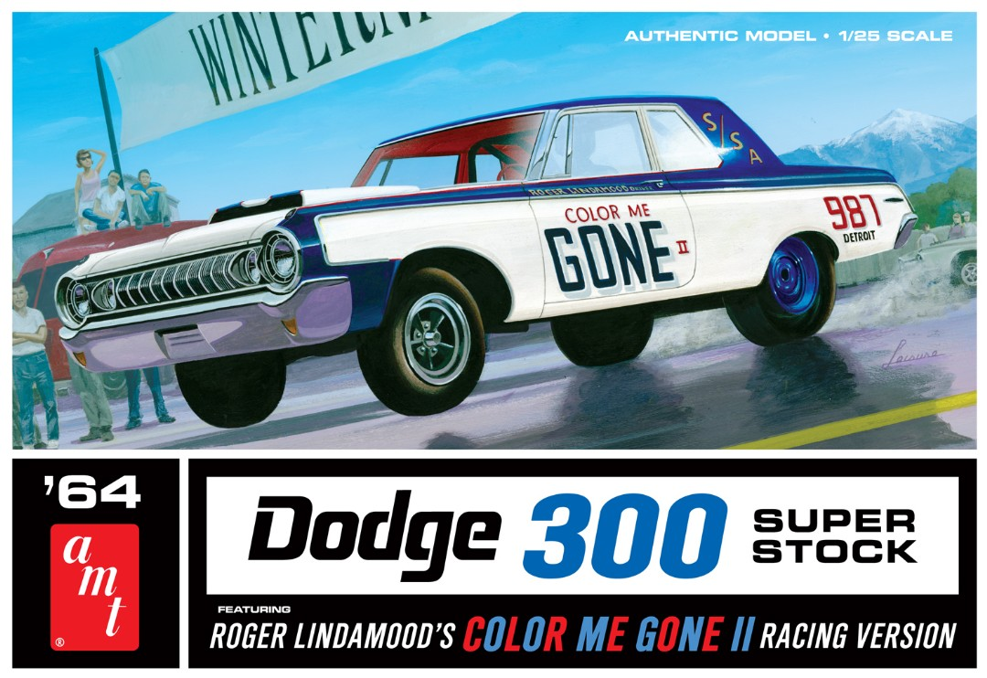 "AMT 1964 Dodge 300 ""Color Me Gone"" 1/25 Model Kit (Level 2)"
