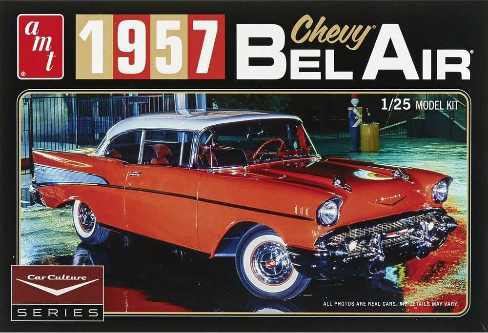 AMT 1957 Chevy Bel Air 1/25 Model Kit (Level 3)