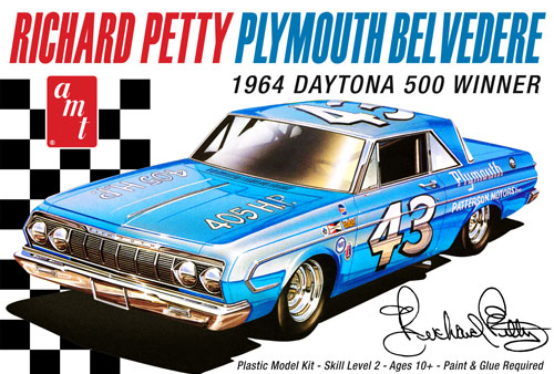 AMT Richard Petty 1964 Plymouth Belvedere 1/25 Model Kit Level 2
