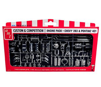 Plastic model 1/25 GM motor parts pack