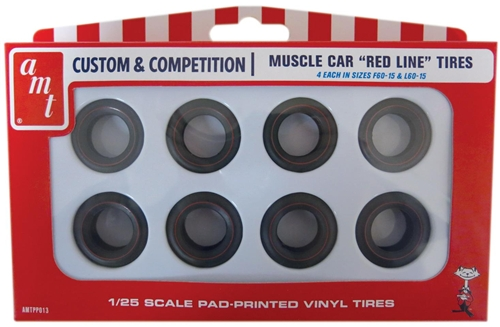 Plastic 1/25 Red line tires parts pack