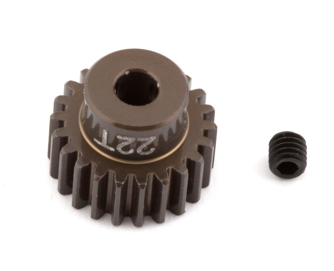 Team Associated FT Aluminum Pinion Gear, 22T 48P, 1/8 shaft