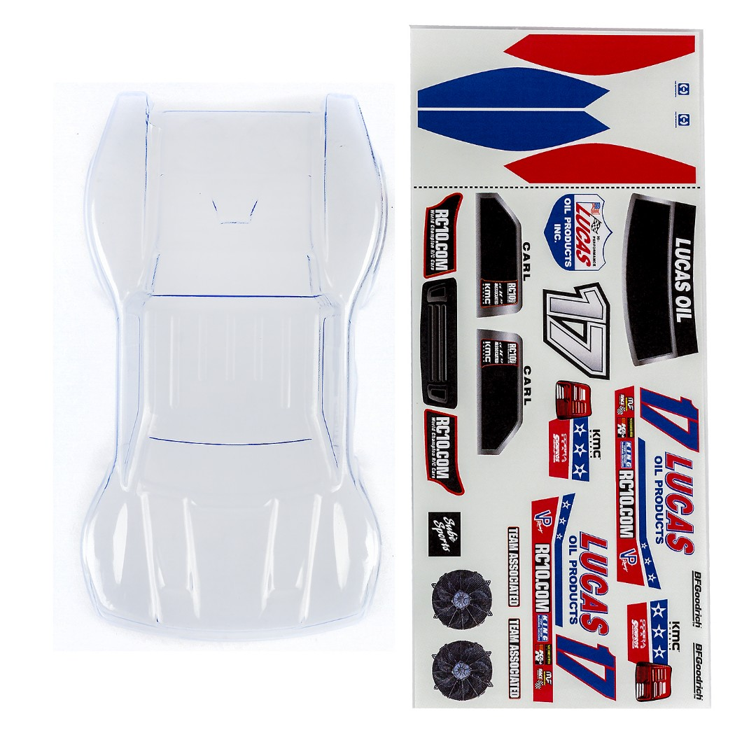 Team Associated SC28 Body, Clear (with Decals)