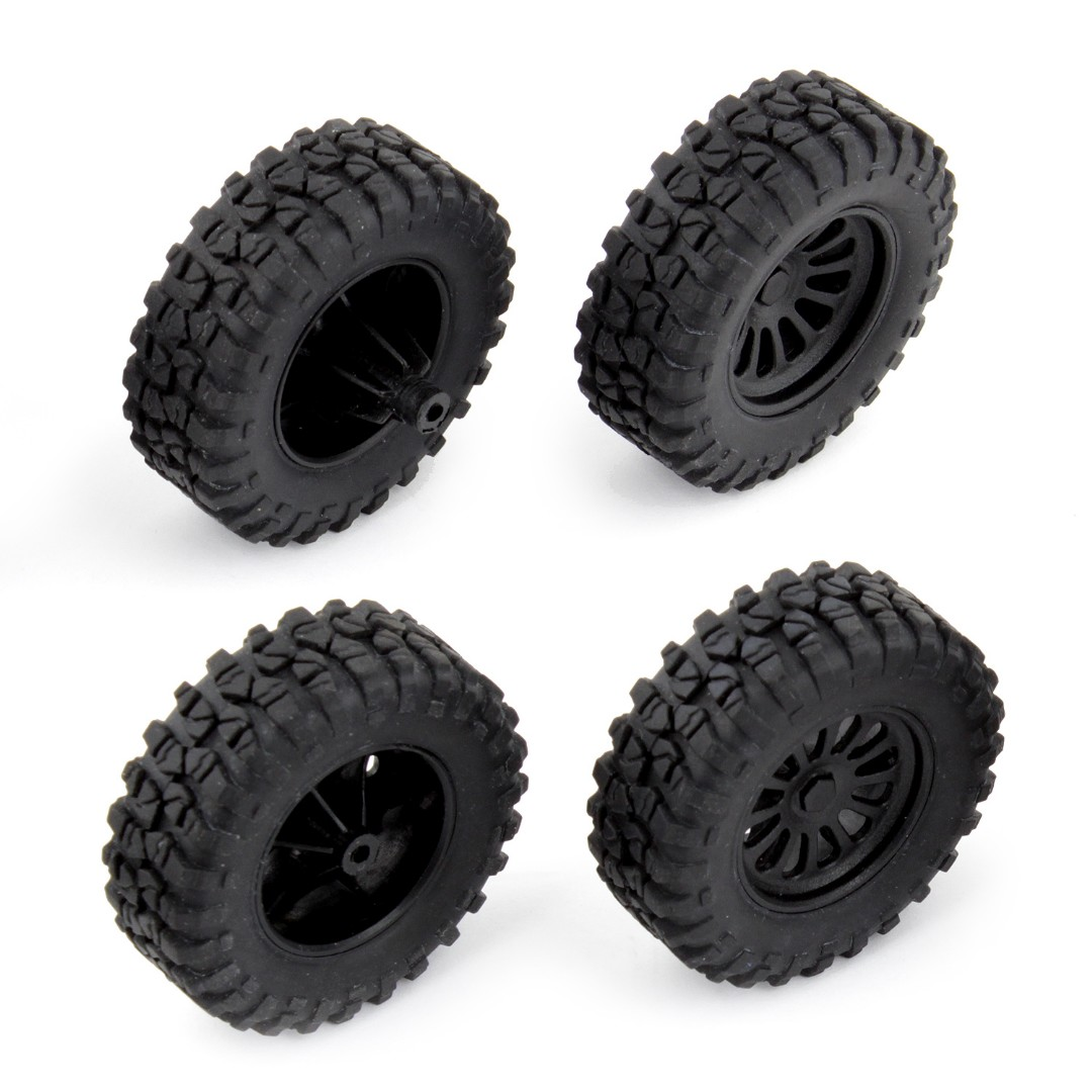 Team Associated MT28 Tires and Wheels (Mounted)(4)