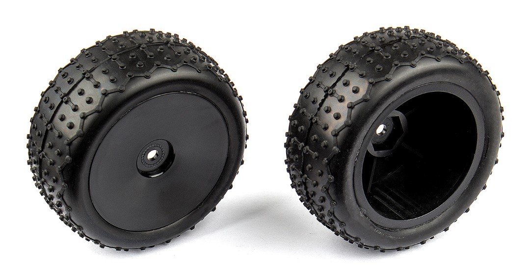 Team Associated Front Narrow Mini Pin Tires, mounted (Reflex)