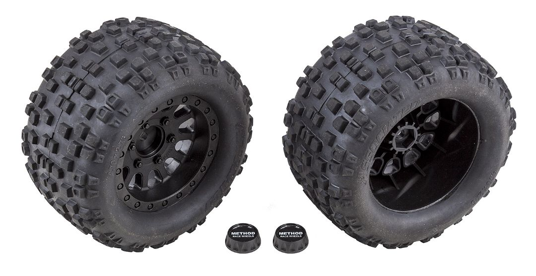Team Associated Rival MT10 Tires and Method Wheels, mounted, he
