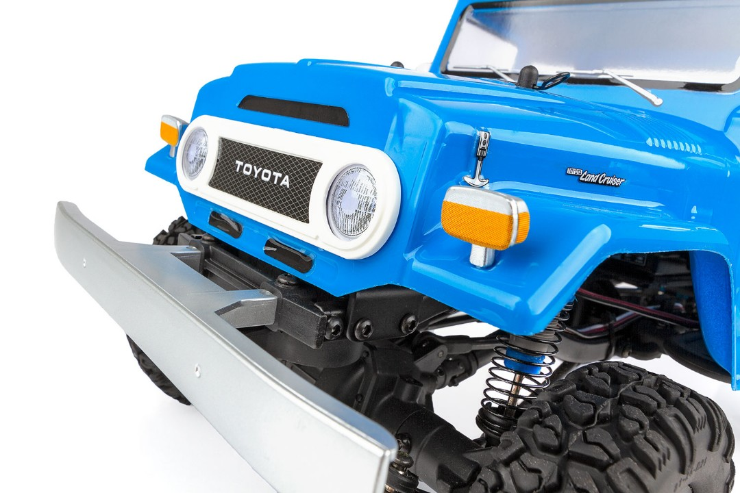 Team Associated CR12 Toyota FJ45 Pick-Up RTR, Blue - Click Image to Close