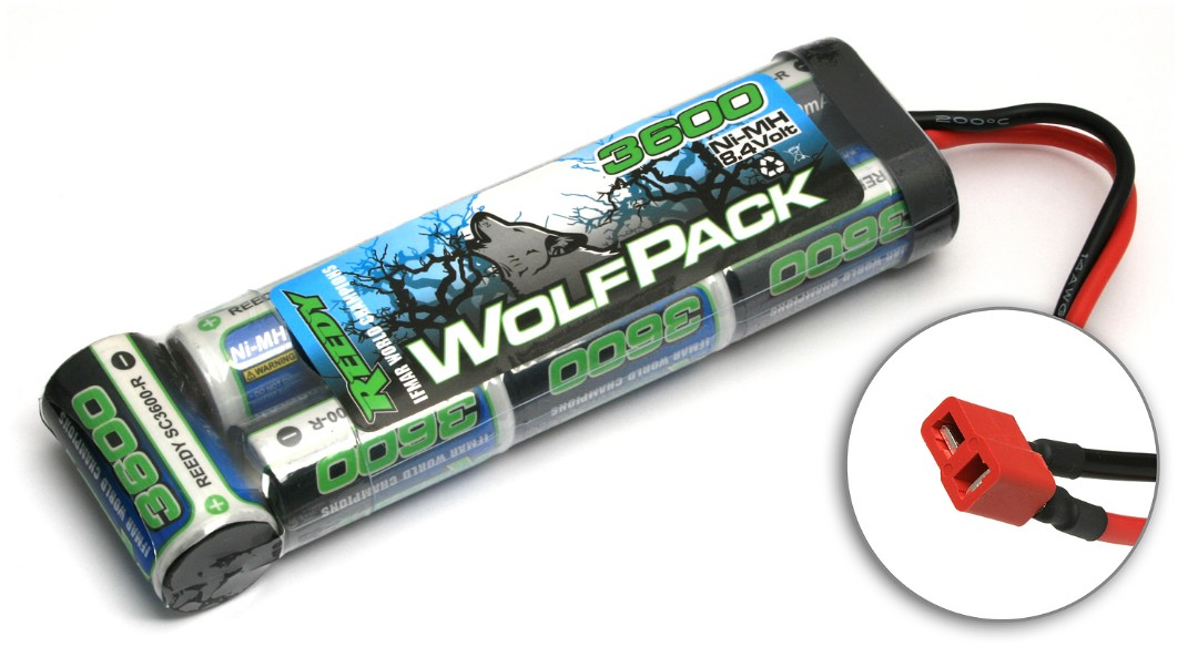 WolfPack NiMH 3600mAh 8.4V w/ High Power Connector