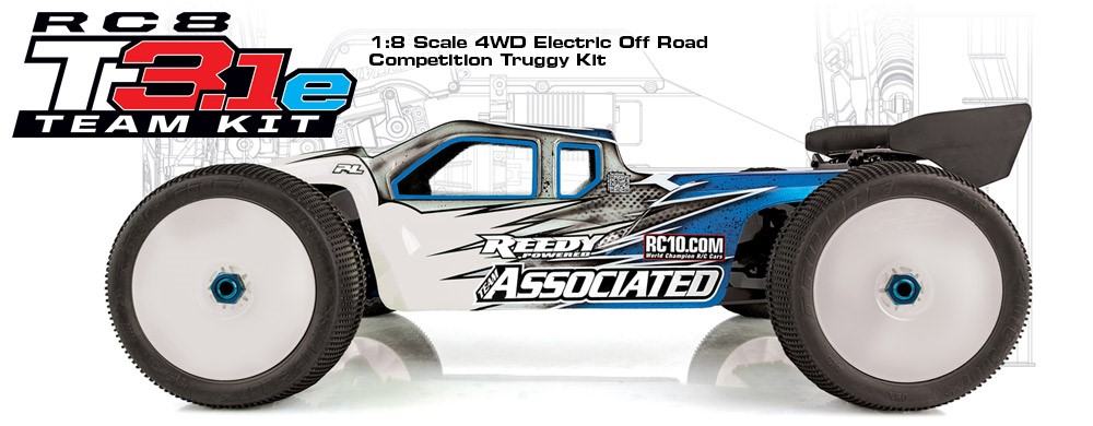 Team Associated RC8T3.1e Team Competition Electric Truggy Kit