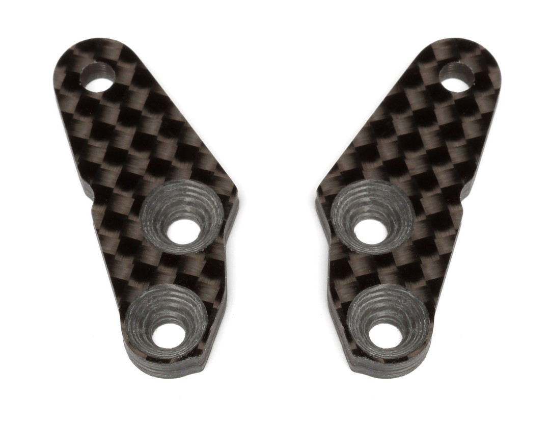 Team Associated FT RC8B3 +2o Carbon Fiber Steering Block Arm (2)