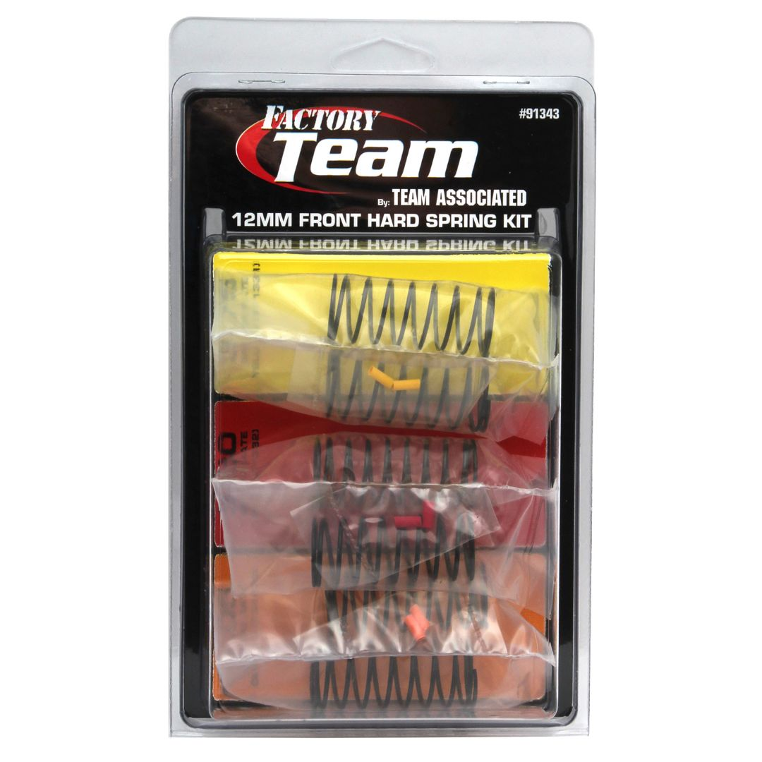 Team Associated 12 mm Front Hard Spring Kit (3 pair)