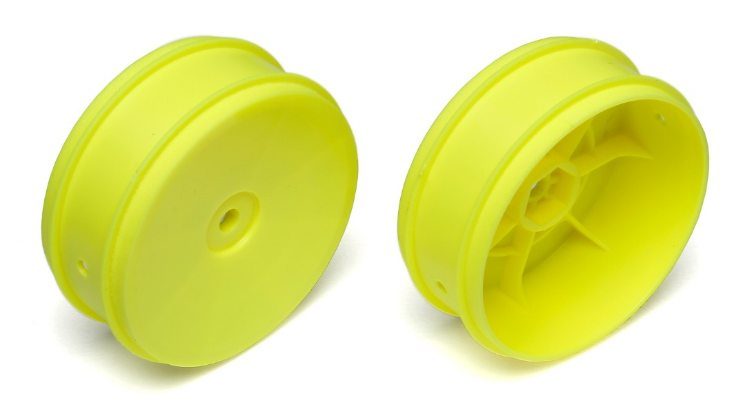 Team Associated 12mm Hex 61mm 2WD Front Buggy Wheels (2) Yellow