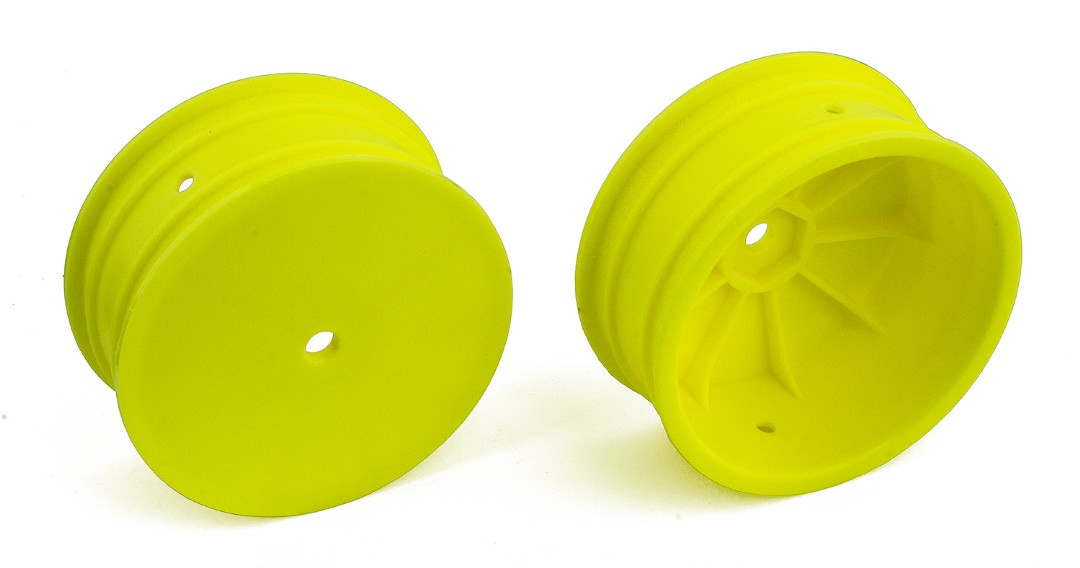 "Team Associated 12mm 4WD 2.2"" Front Wheels (Yellow)"