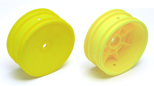 Team Associated 12mm Hex 2.2 Front Buggy Wheels (2) (B5) Yellow