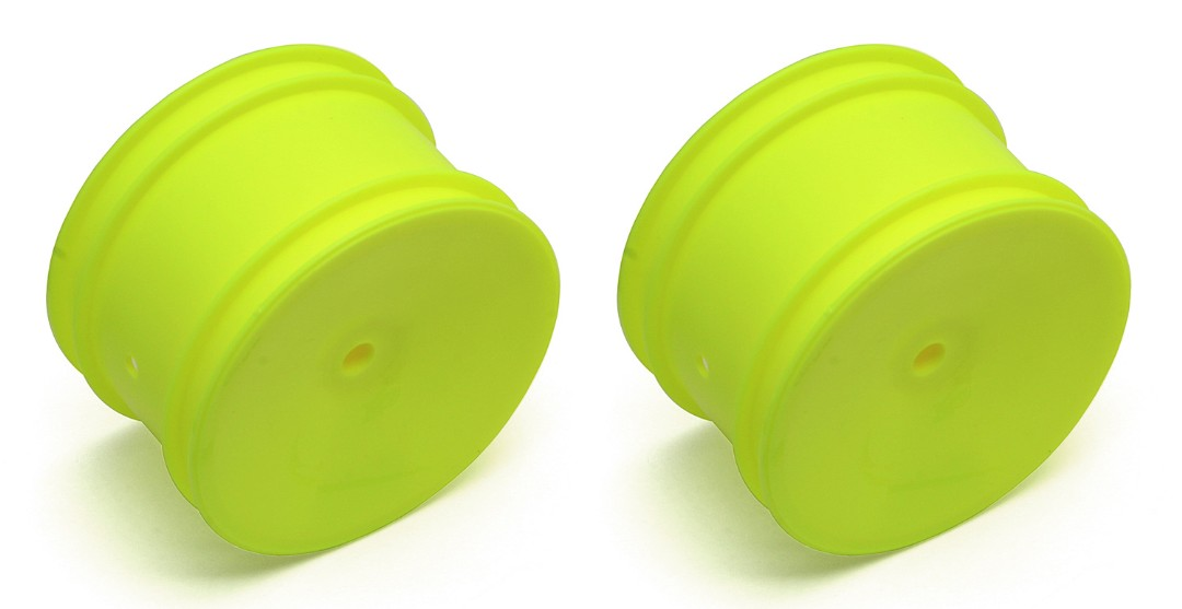 Team Associated 12mm Hex 2.2 Rear Hex Wheels (2) (B5) (Yellow)