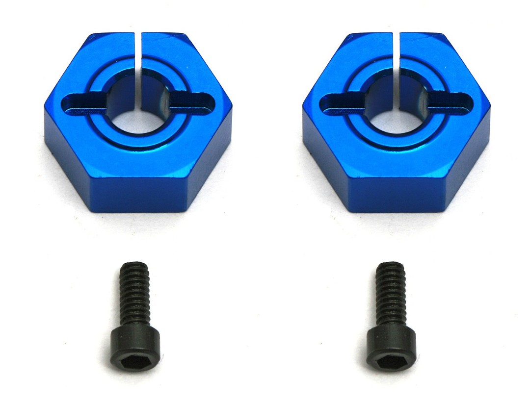 Team Associated 12mm Aluminum Front Clamping Wheel Hex Set (2)